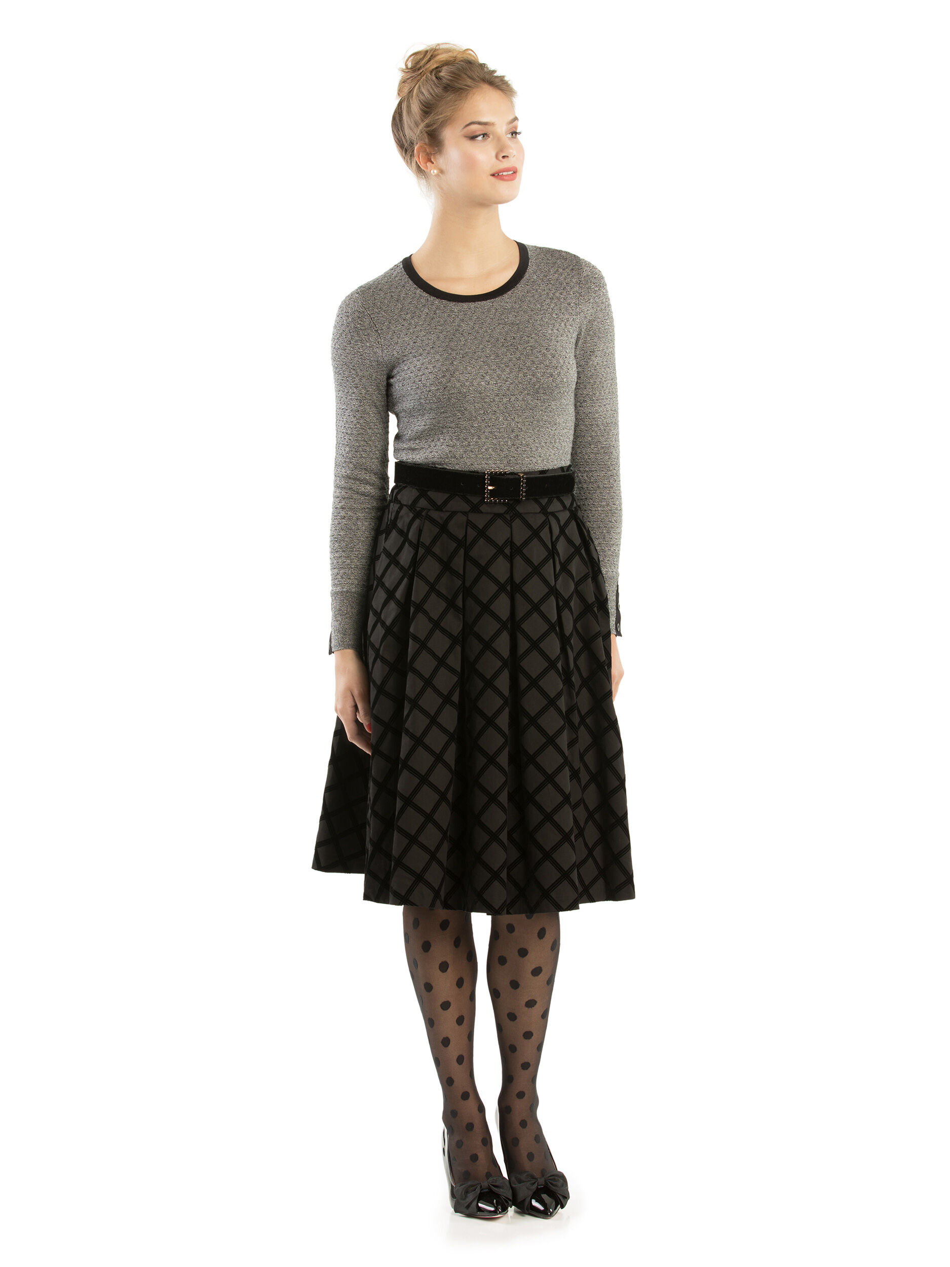 Cassia Check Skirt