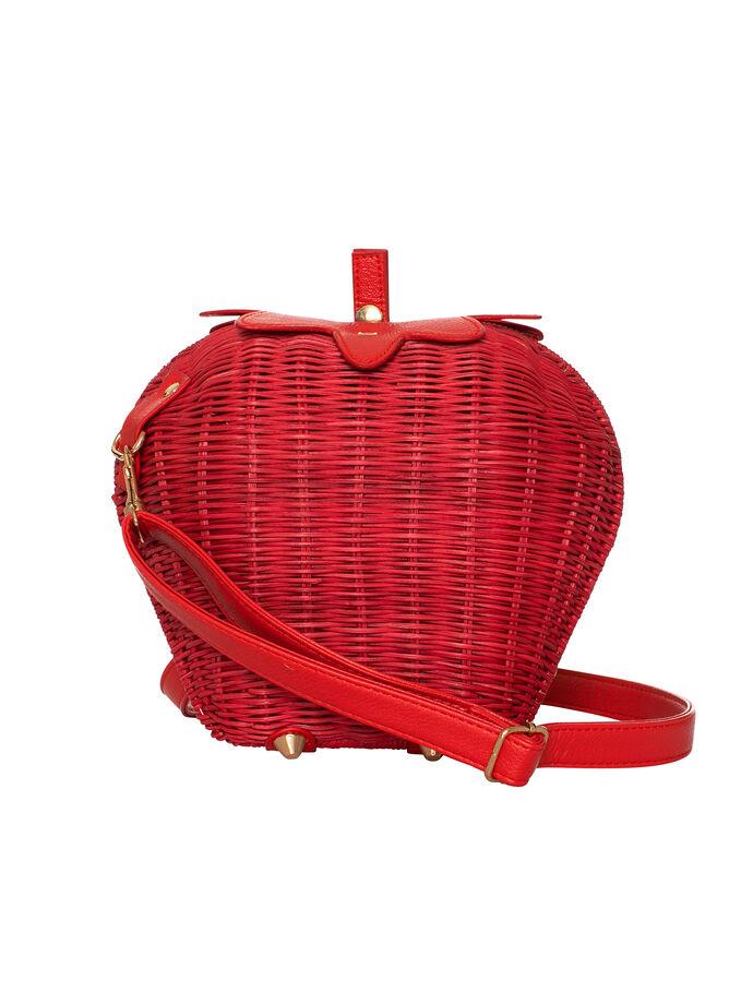 Strawberry Wicker Bag