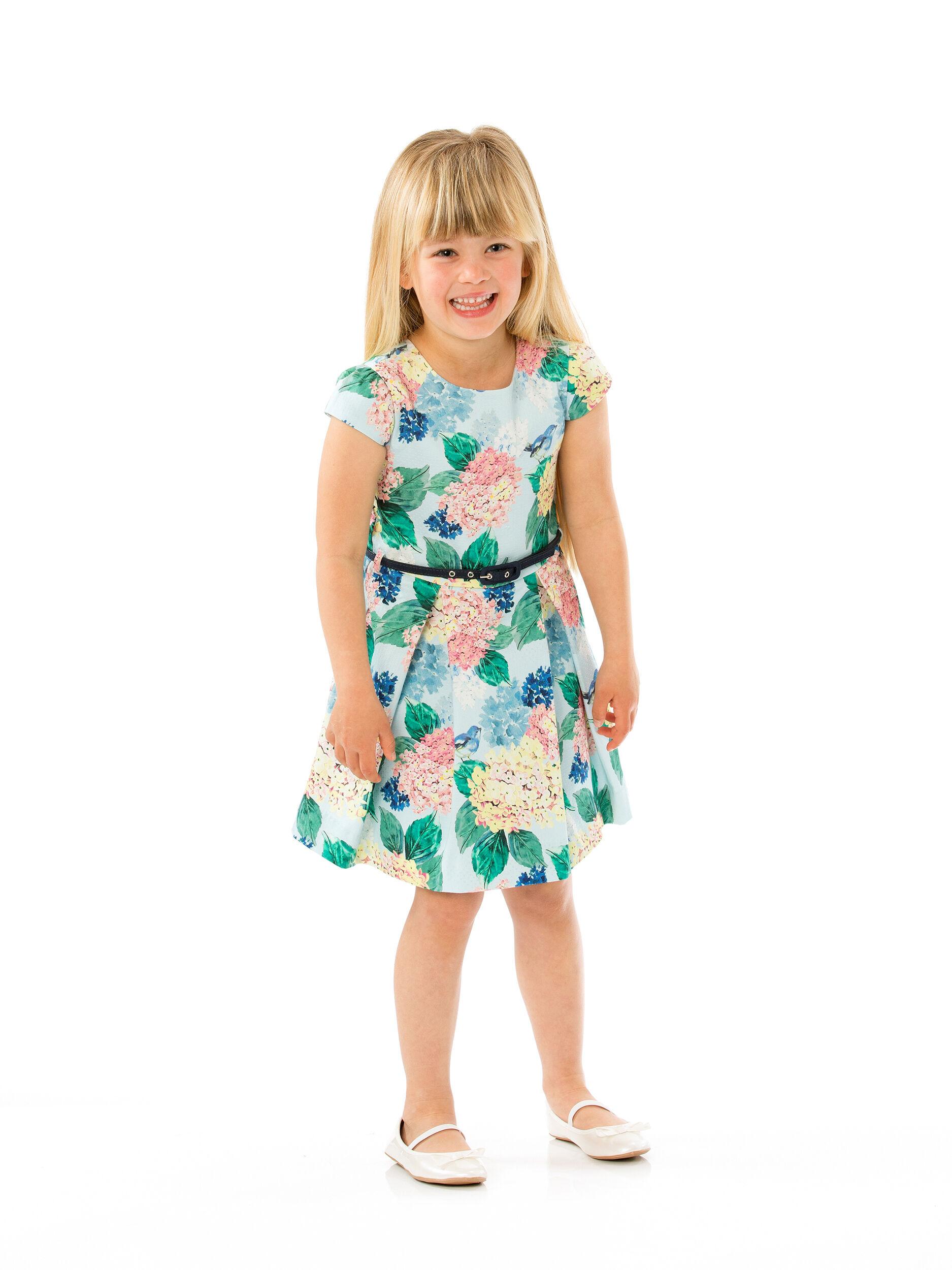 3-7 Girls Floral Prom Dress