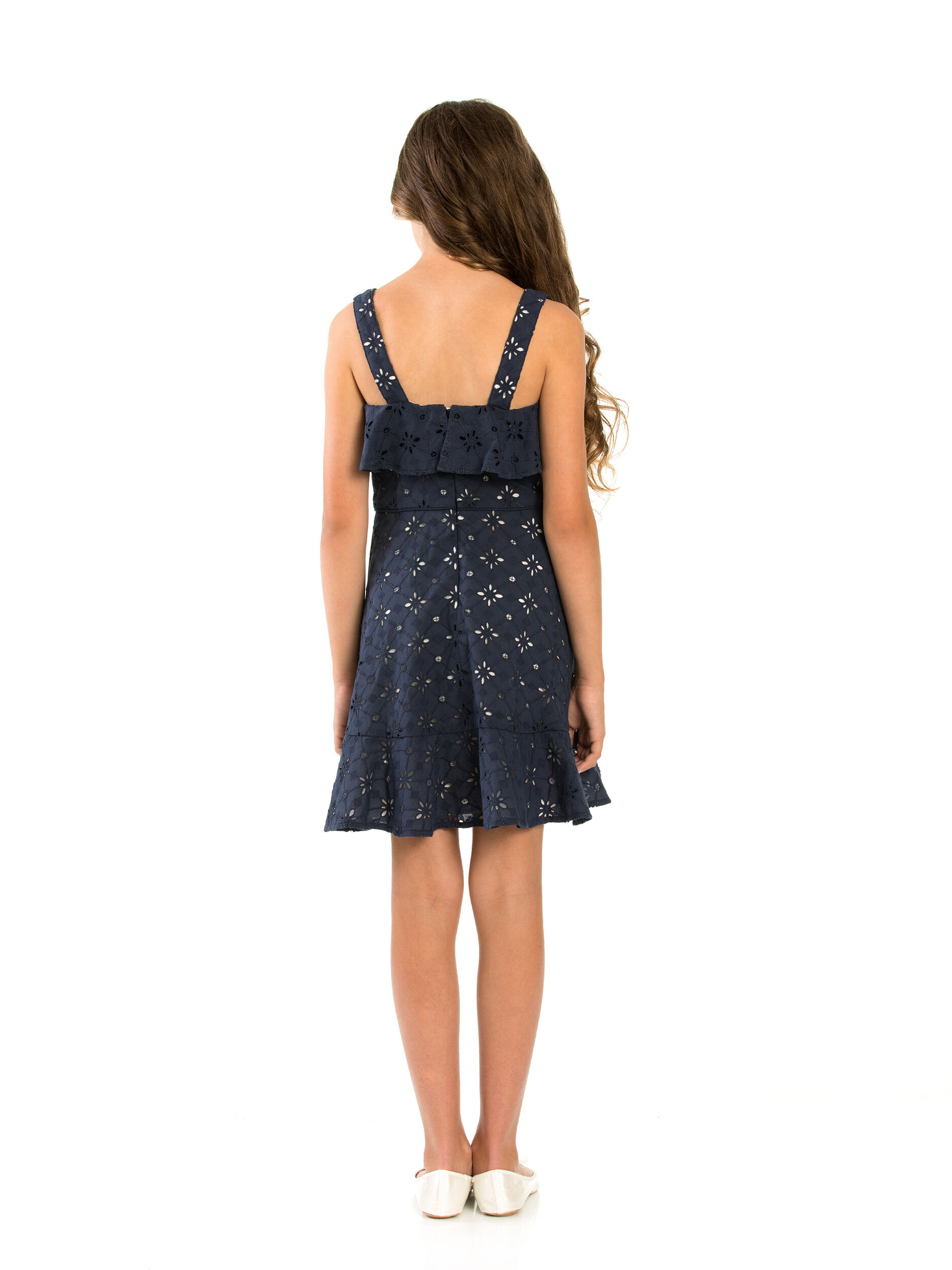 8-14 Girls Broderie Anglaise Dress