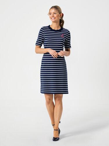 Anchor Me Stripe Ponte Dress
