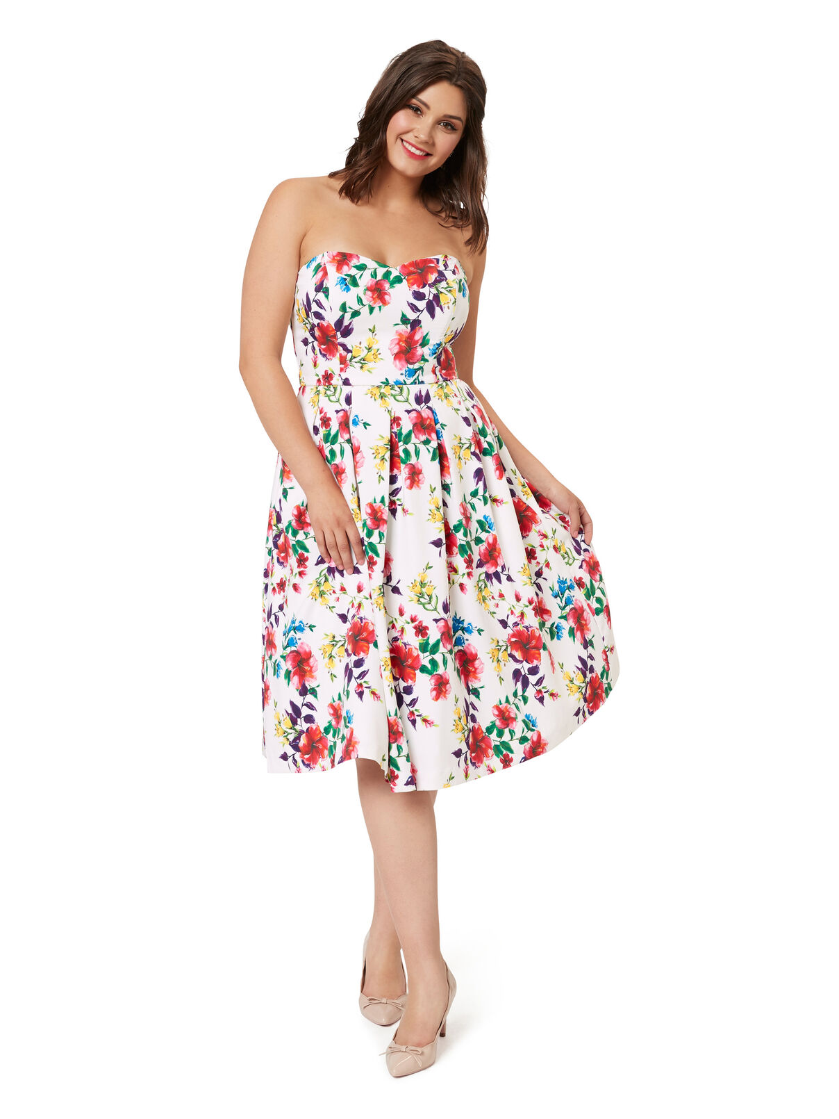 Vestido Longo Brilho Bege | POP Dress