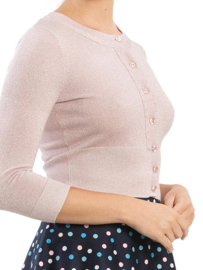 Chessie Shimmer 3/4 Sleeve Cardi