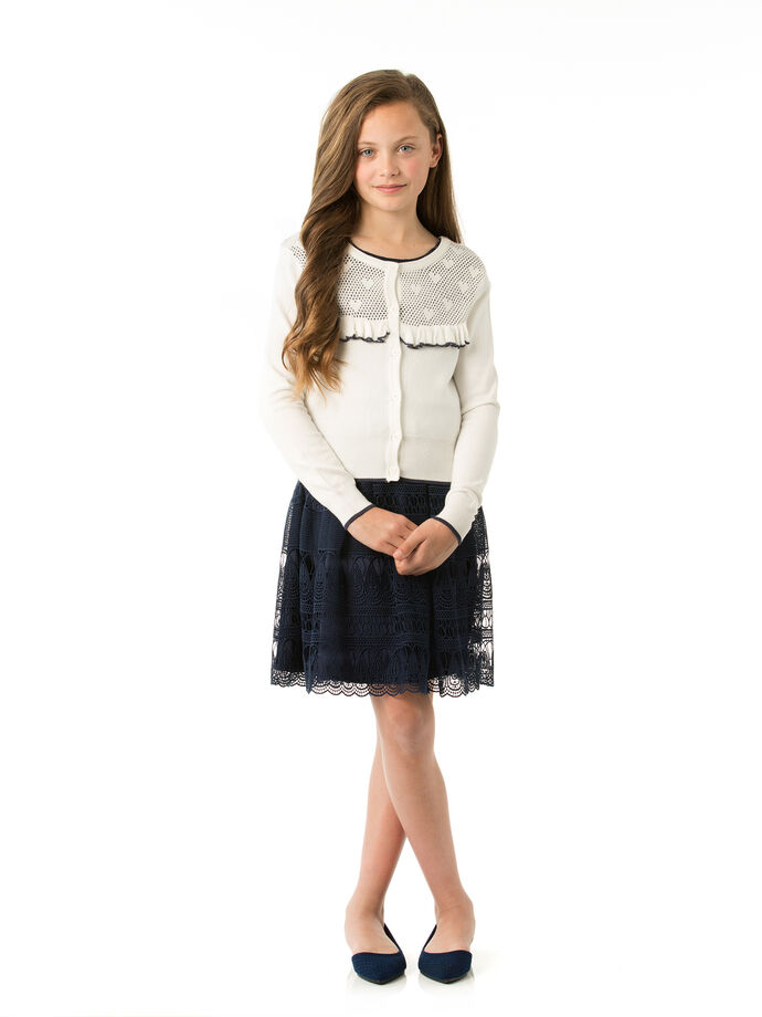 8-14 Girls Fully Fashioned Cardigan