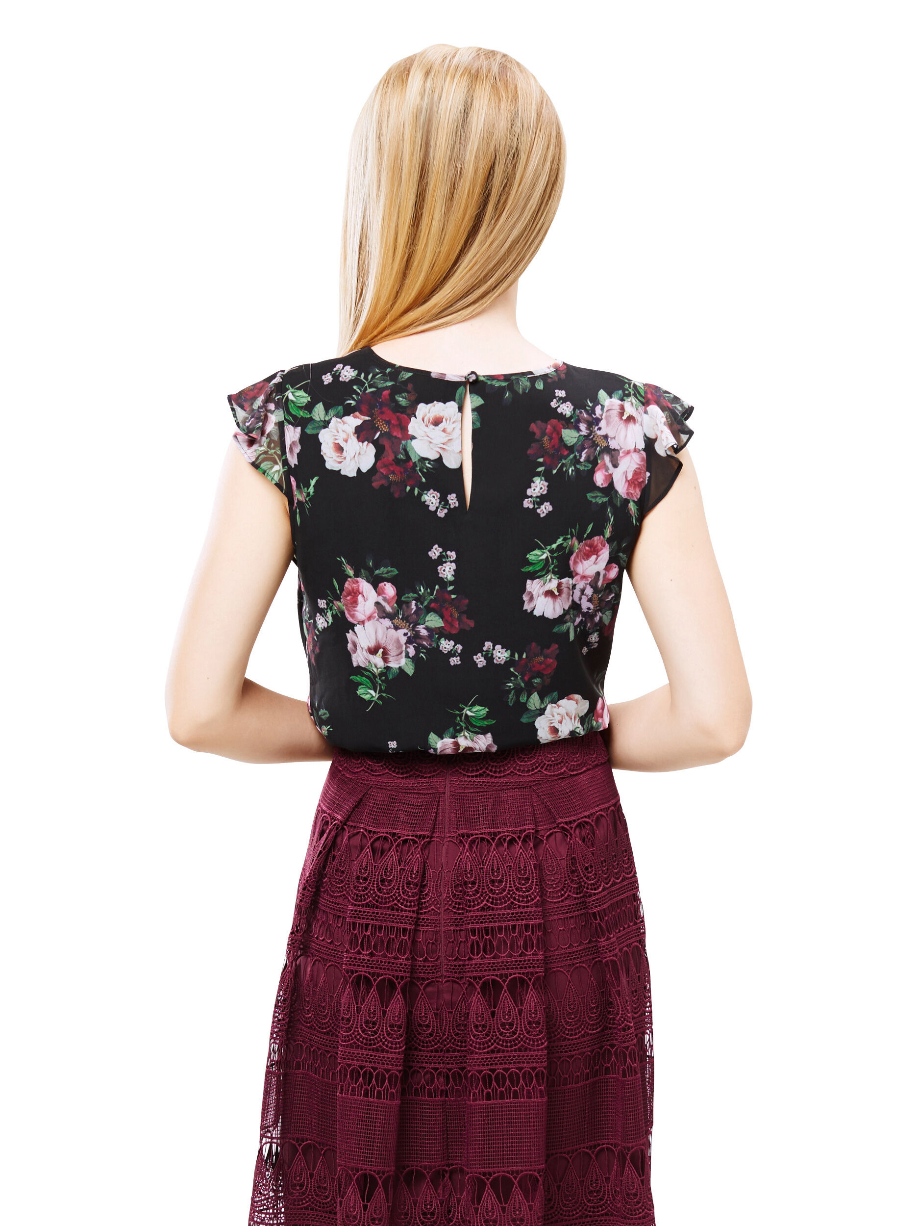 Ebony Bloom Top