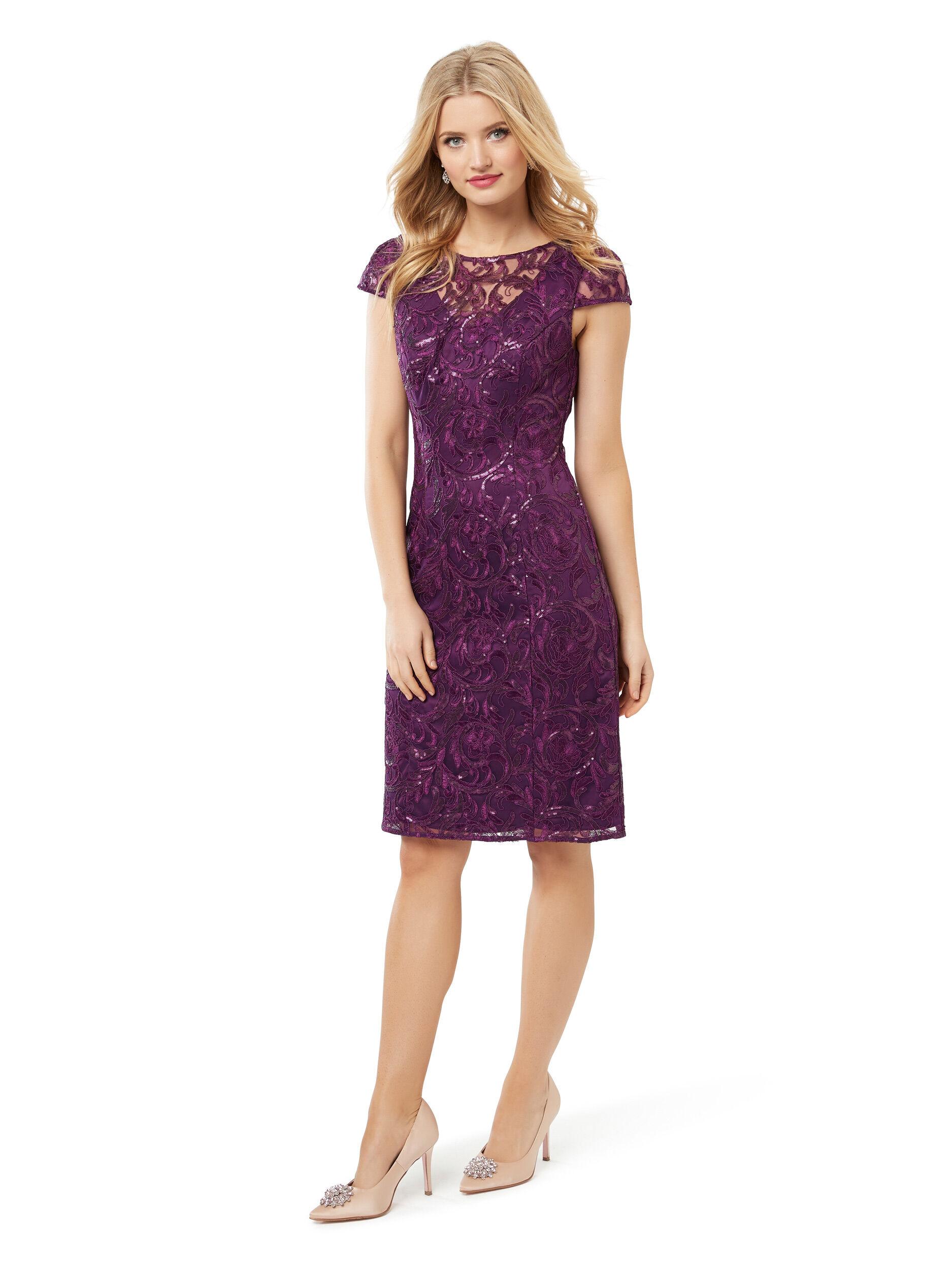 Time For Shimmer Slv Dress