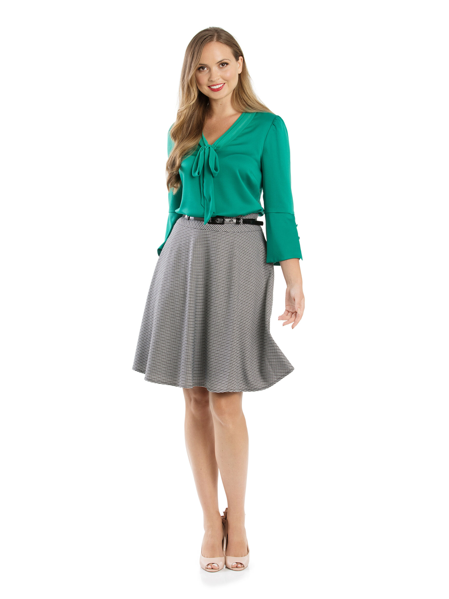 Avalon Check Skirt