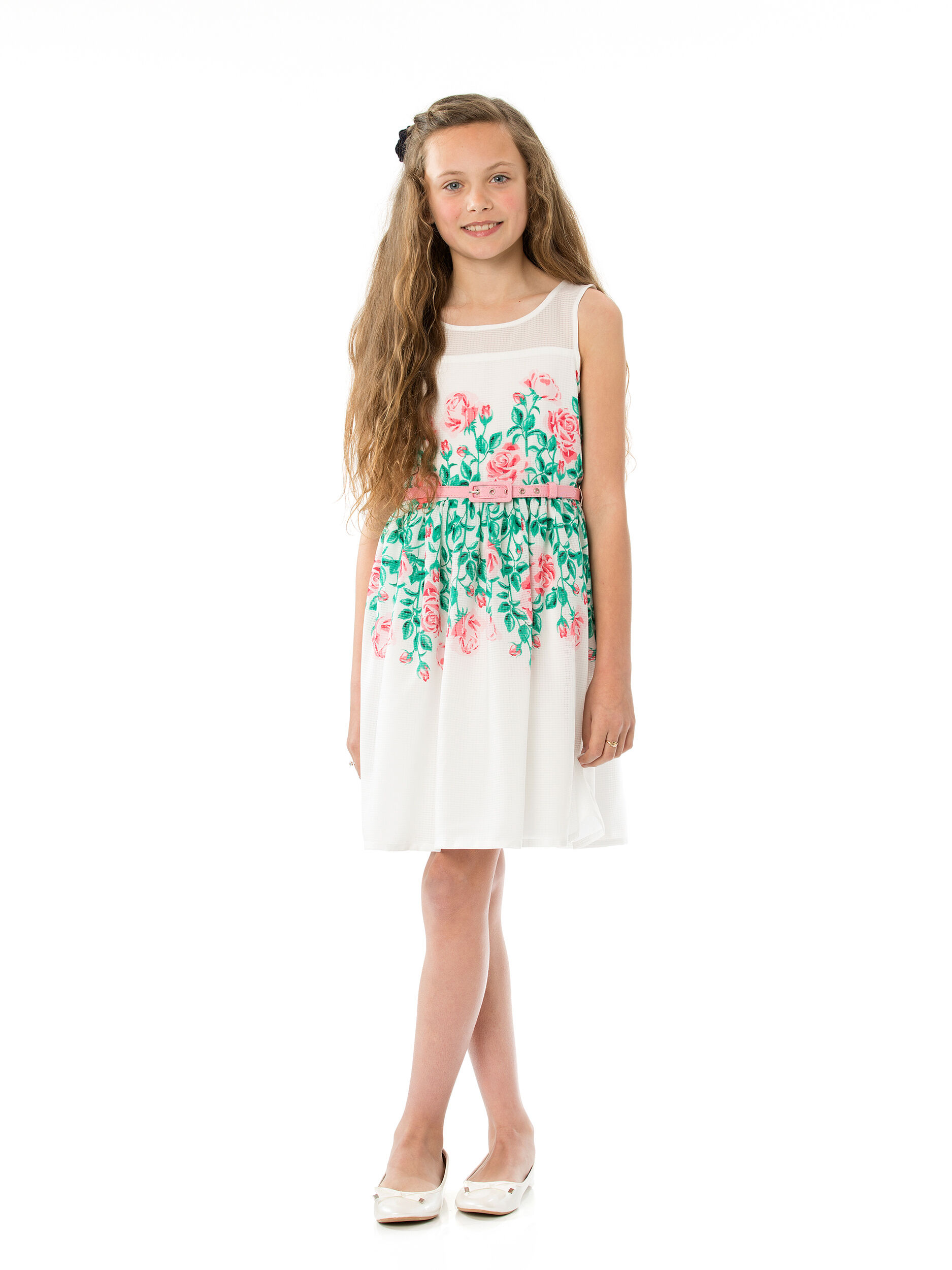 8-16 Girls Border Prom Dress
