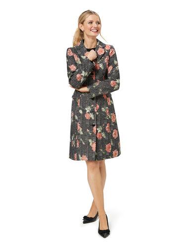Rose Check Coat