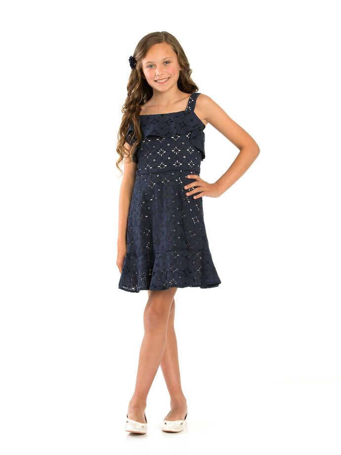 8-14 Girls Broderie Anglaise Dress