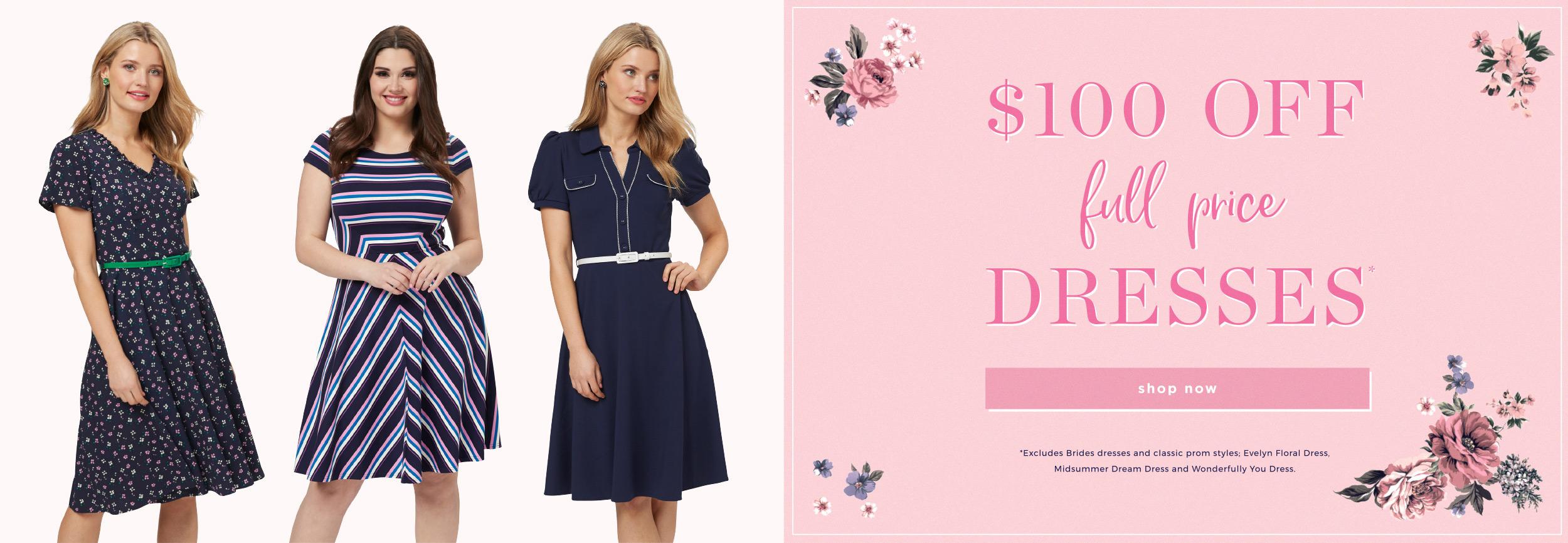 $100 Off Dresses
